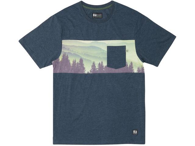 Hippy Tree Pine Haze Knit T-Shirt Heren, heather navy